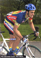 Devoted team mate Phil West (Fred)